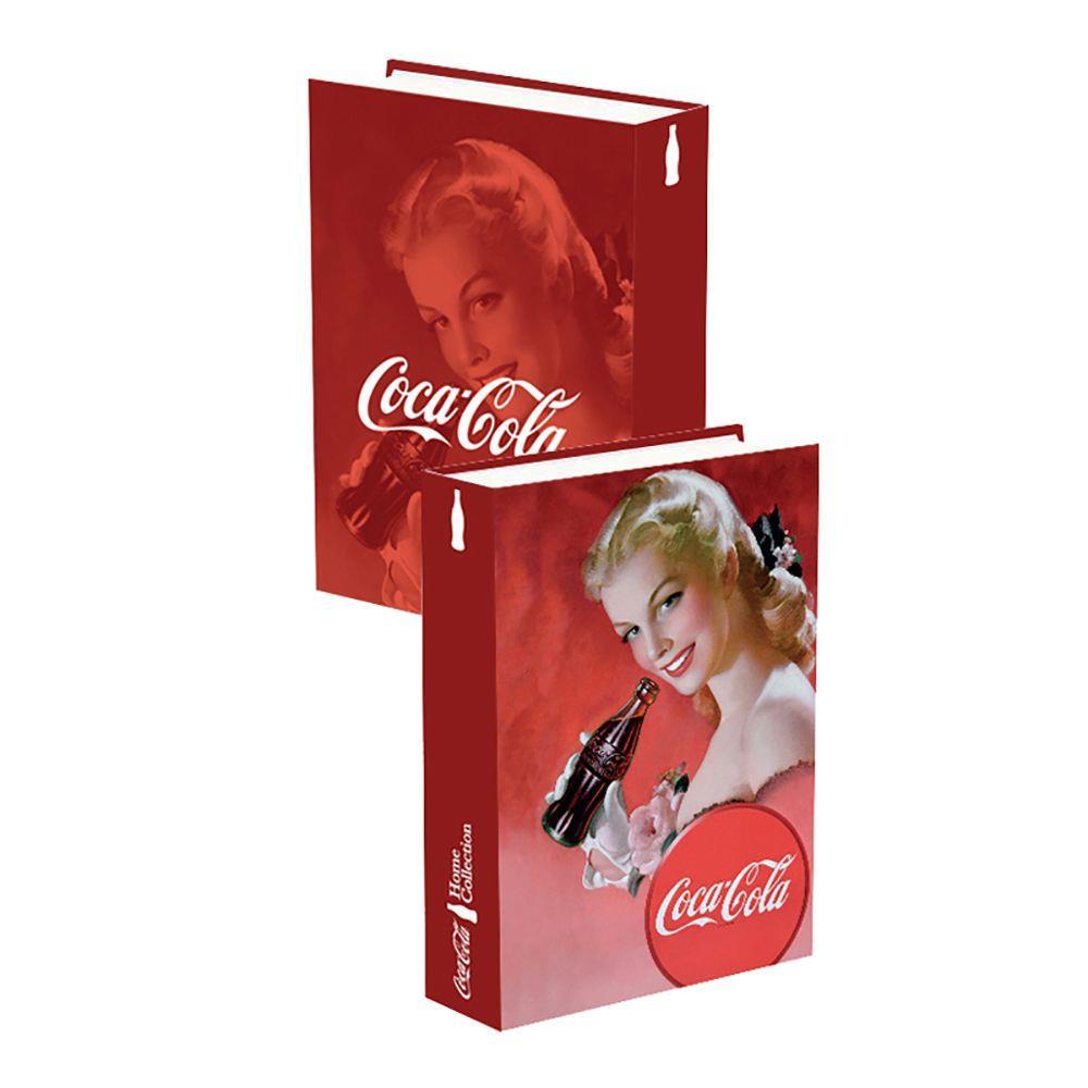 Caixa Livro Madeira Coca Cola Blond Lady - Metropole