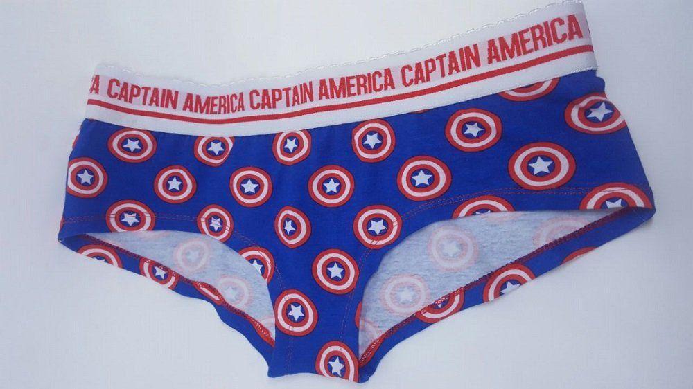 Calcinha Marvel Capitão América Escudo - M
