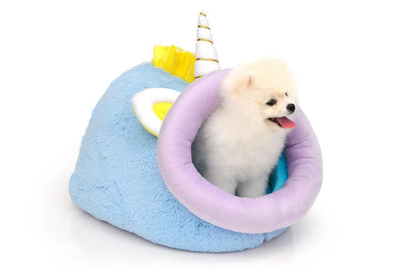 Cama Toca Pet Unicórnio para Cachorro e Gato (Pequeno)