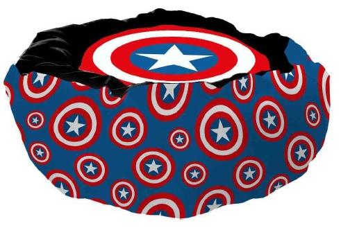 Cama Pet Escudo Capitão América (Captain America): Marvel Comics