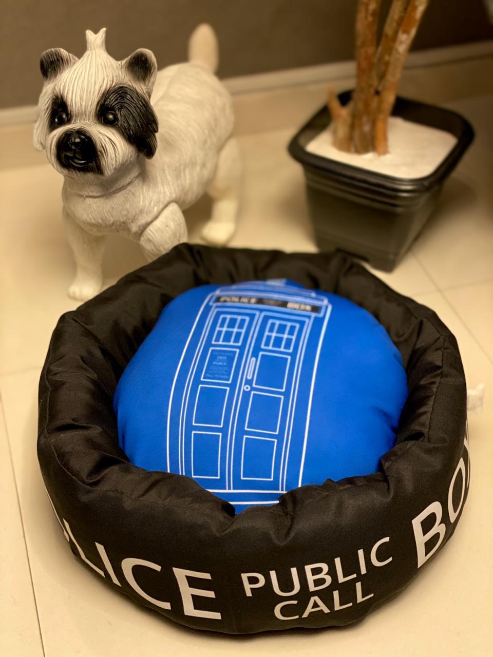 Caminha Pet Public Call Box Police - Doctor Who ( Preta )