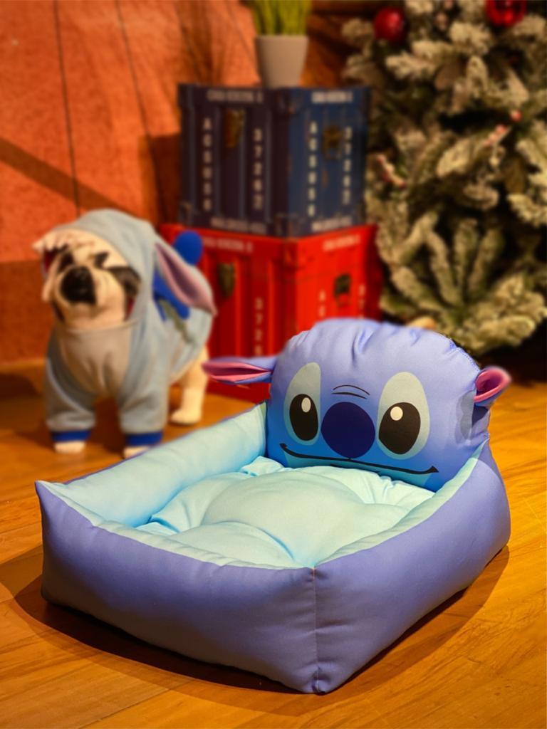 Caminha Pet Rosto Stitch: Lilo e Stitch