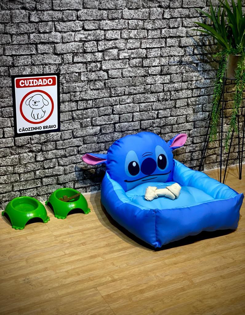 Cama Pet Rosto Stitch: Lilo e Stitch
