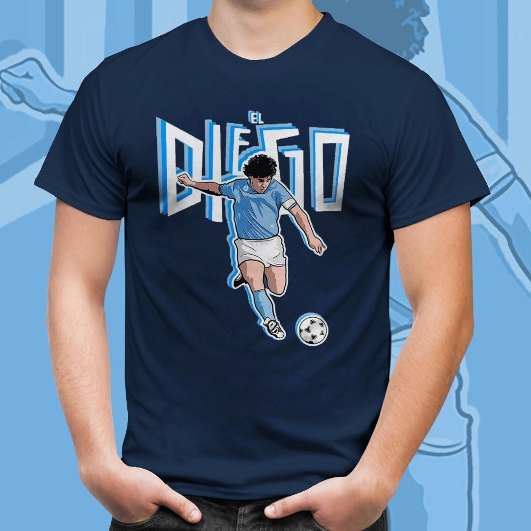 Camiseta Azul Marinho Unissex Maradona El Diego