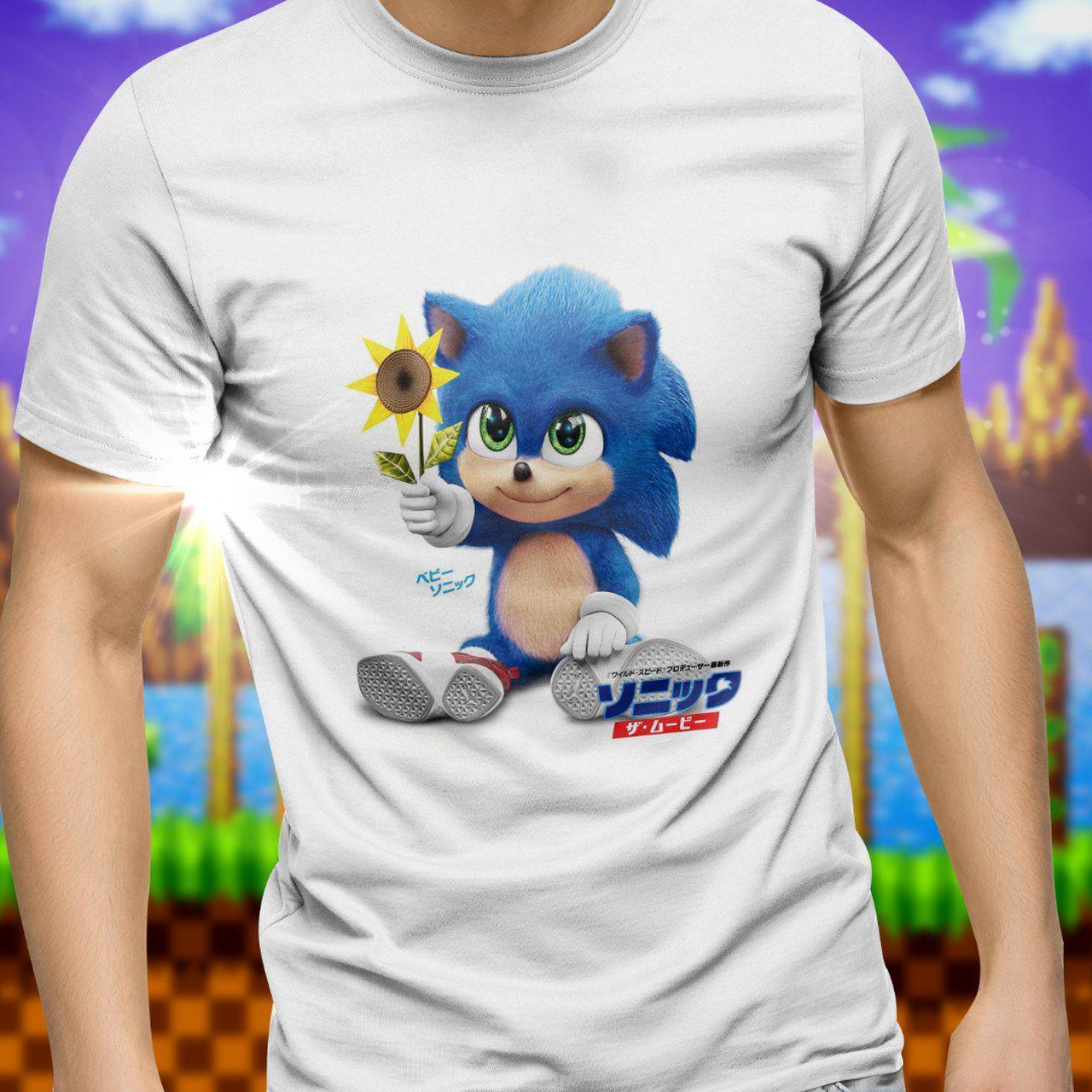 Camiseta Unissex Baby Sonic: Sonic the Hedgehog - Exclusiva ToyShow
