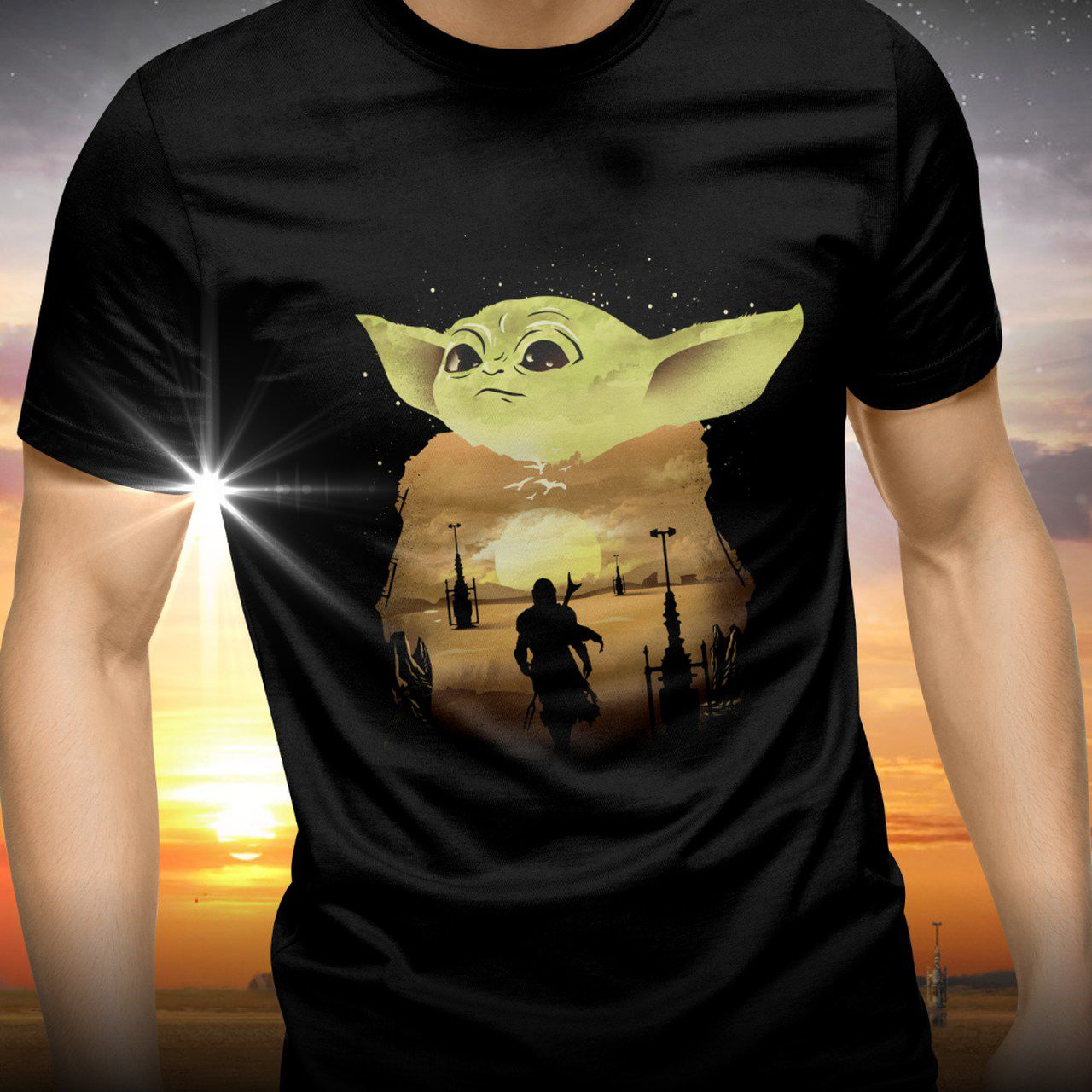 Camiseta Grogu ''Baby Yoda'': The Mandalorian (Star Wars) - Exclusiva ToyShow