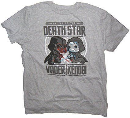 Funko Camiseta Battle On The Death Star (Vader Versus Kenobi): Star Wars - Funko