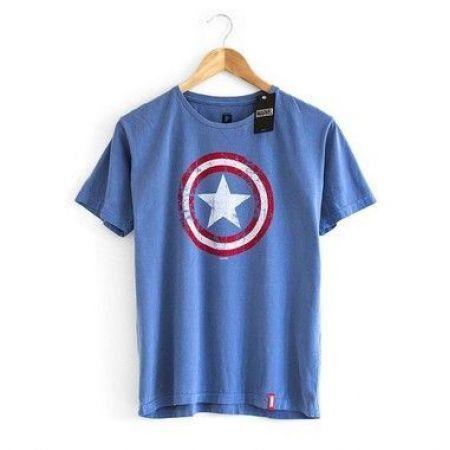 Camiseta Capitão América Escudo - Studio Geek