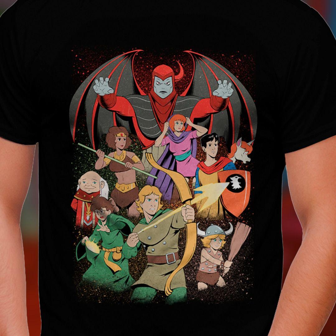 Camiseta Caverna do Dragão (Dungeons & Dragons)