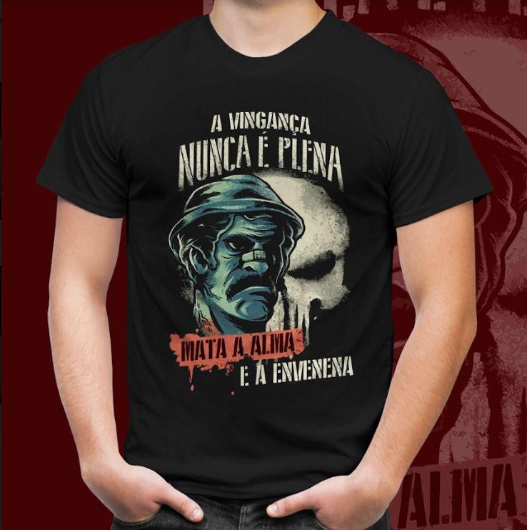Camiseta Chaves: Seu Madruga A Vingança Nunca É Plena, Mata A Alma E A Envenena Preto Tamanho: P