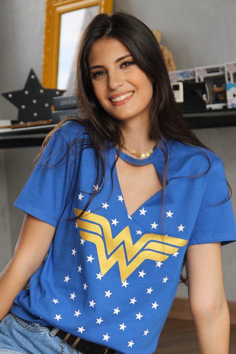 Camiseta Chocker Feminina Wonder Woman Foil: DC Comics - BandUp!