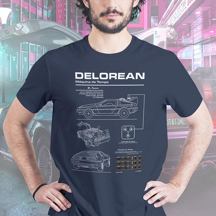 Camiseta DeLorean Time Machine: De Volta Para o Futuro (Back to the Future)