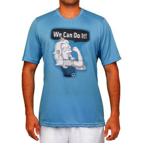 "Camiseta (Des)encanto: ""We Can Do It!"" (Azul)"