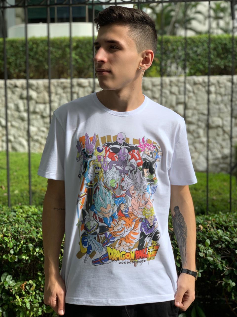 Camiseta Dragon Ball (Branco)