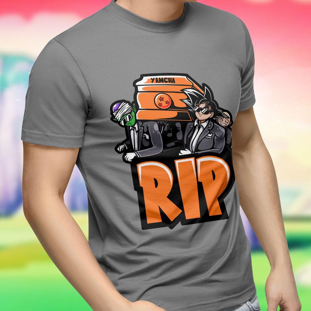 Camiseta Dragon Ball: R.I.P (Cinza)