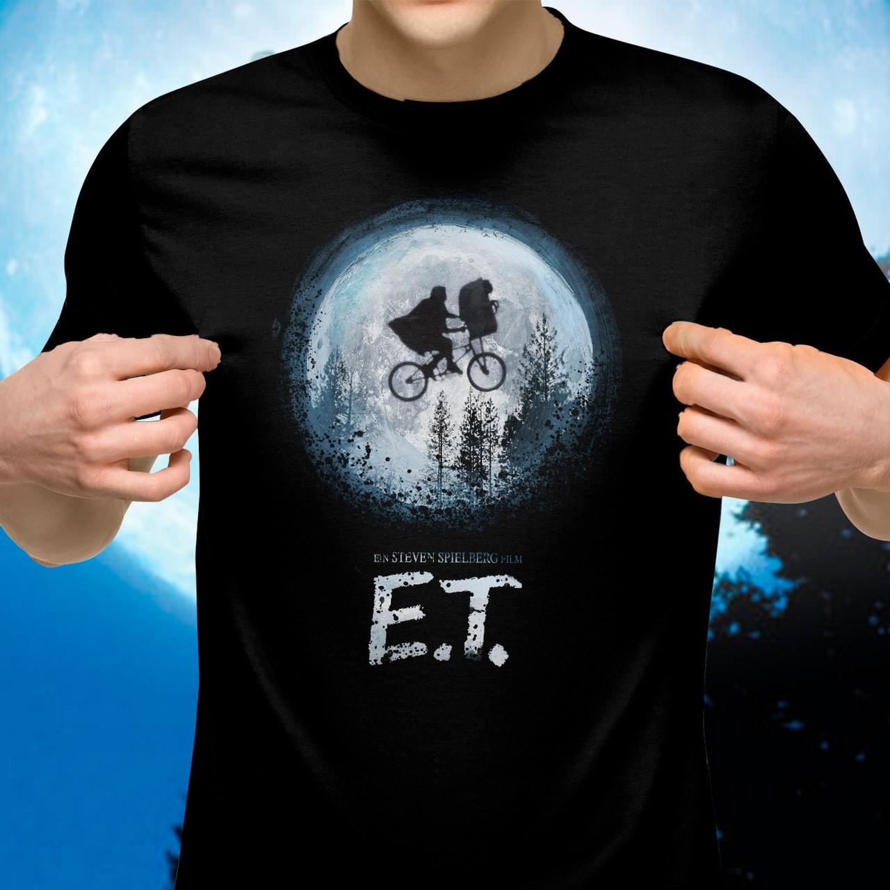 Camiseta E.T: Steven Spielberg (Preto)