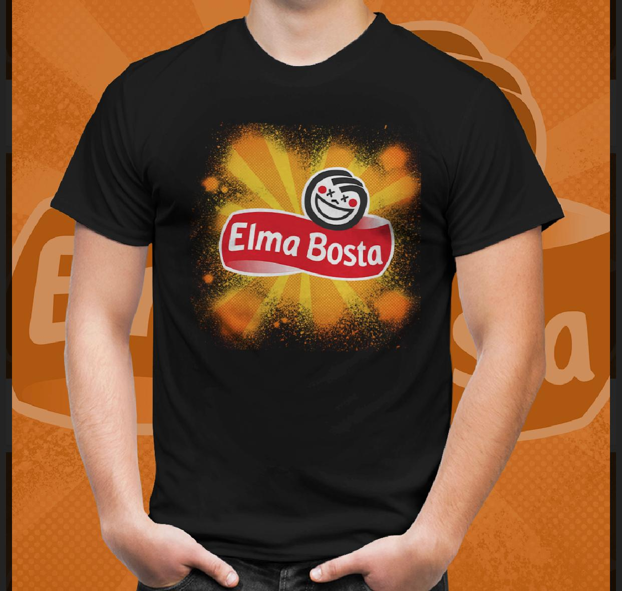 Camiseta Elma Bosta (Preto)