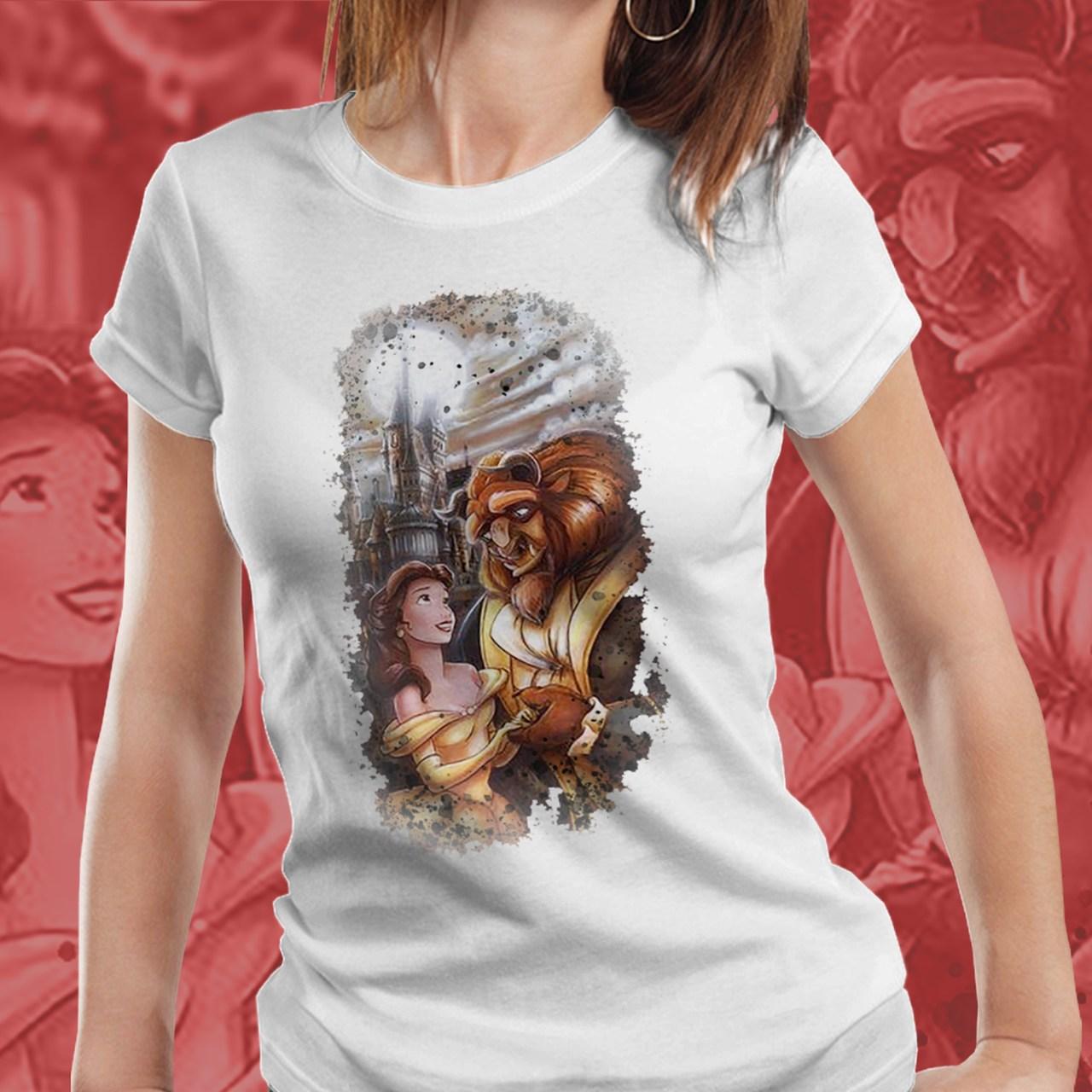 Camiseta Feminina A Bela e a Fera - Disney (Branco) - EV