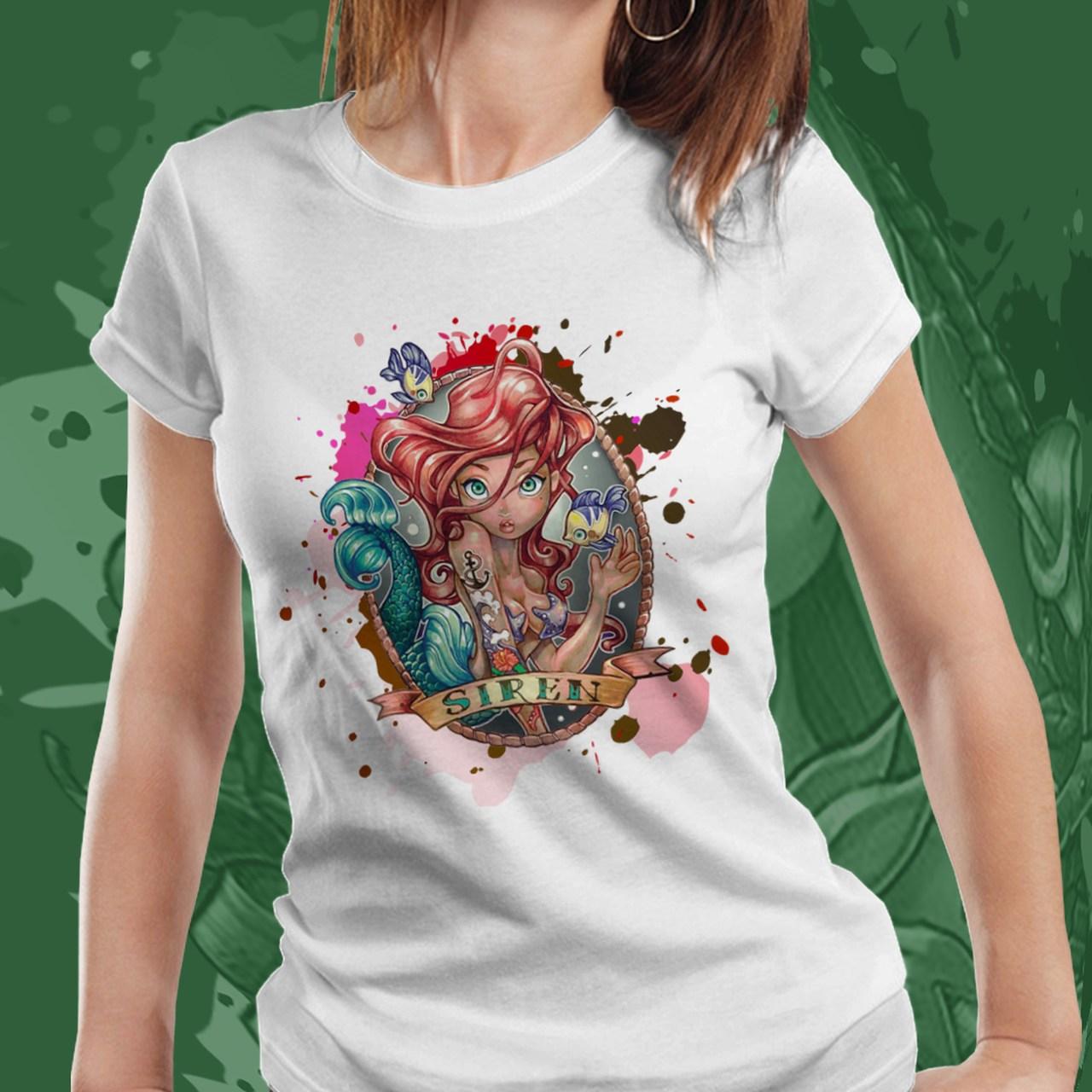 Camiseta Feminina Ariel: Princesa Ariel - Disney (Branco) - EV