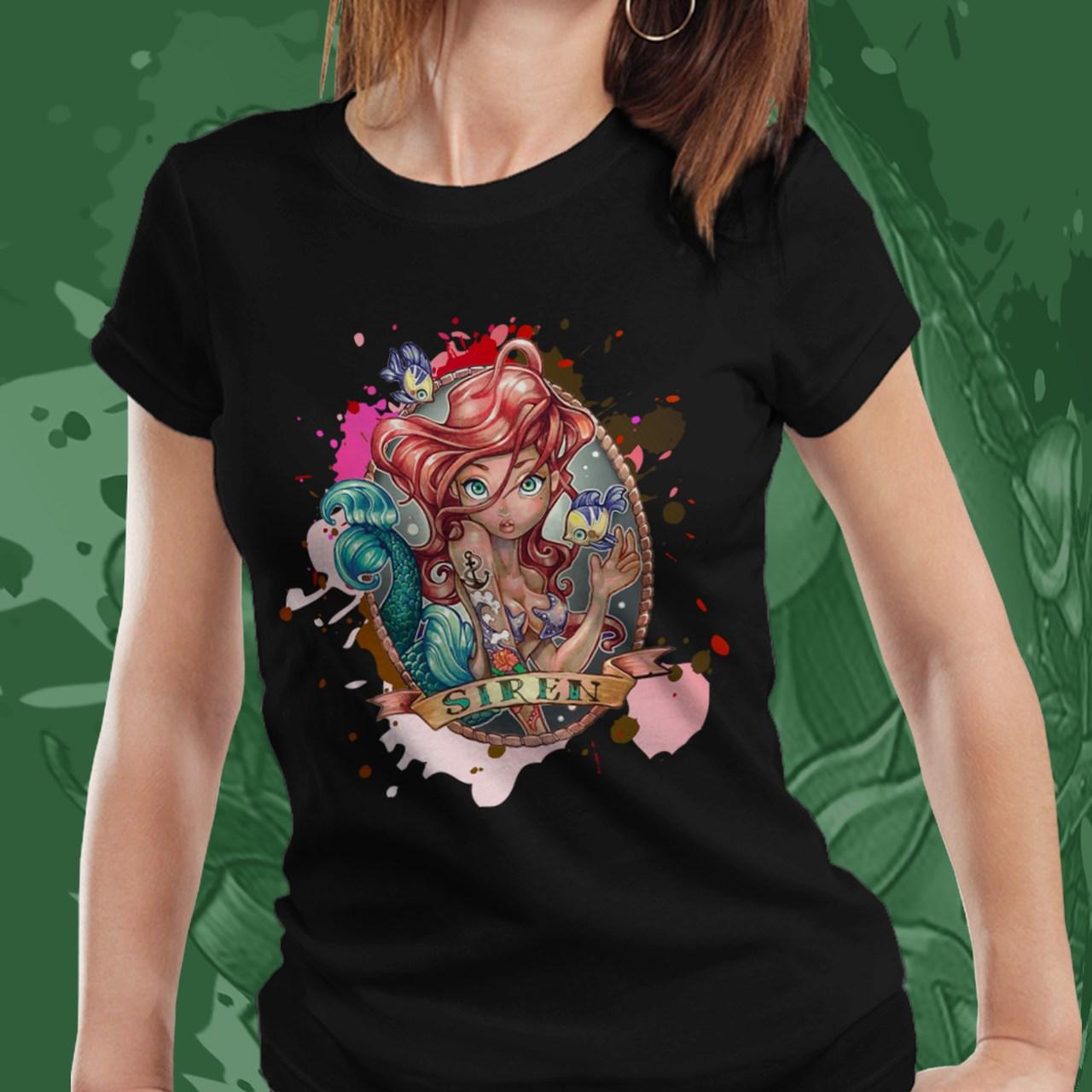 Camiseta Feminina Ariel: Princesa Ariel - Disney (Preto) - EV