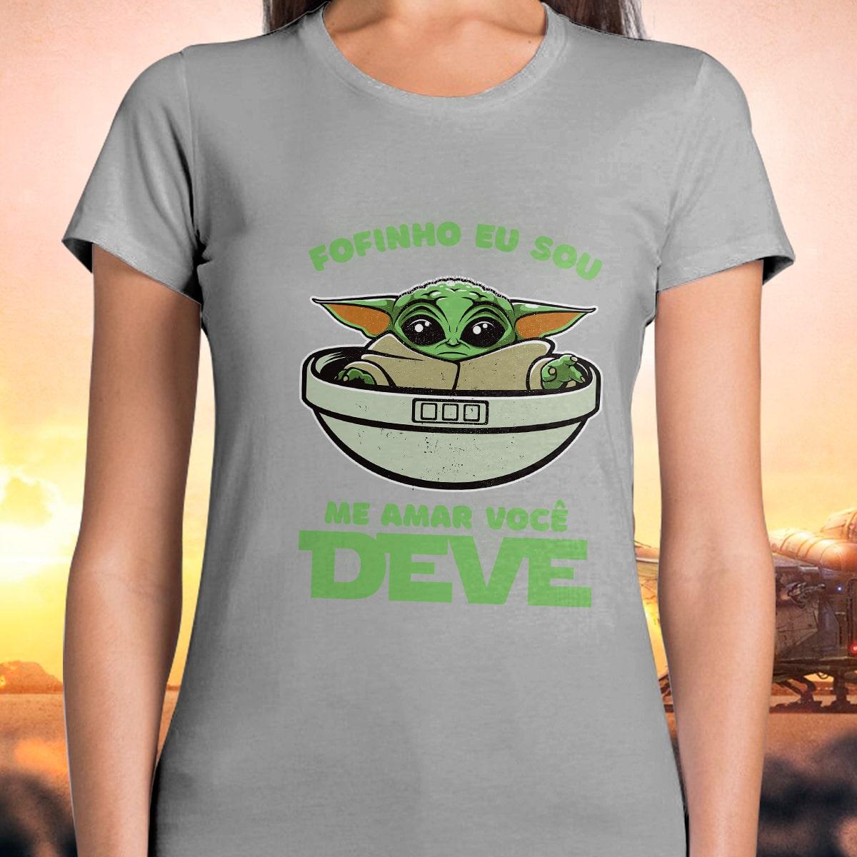 Camiseta Feminina Grogu ''Baby Yoda'' Fofinho Eu Sou Me Amar Você Deve: Star Wars (Disney)