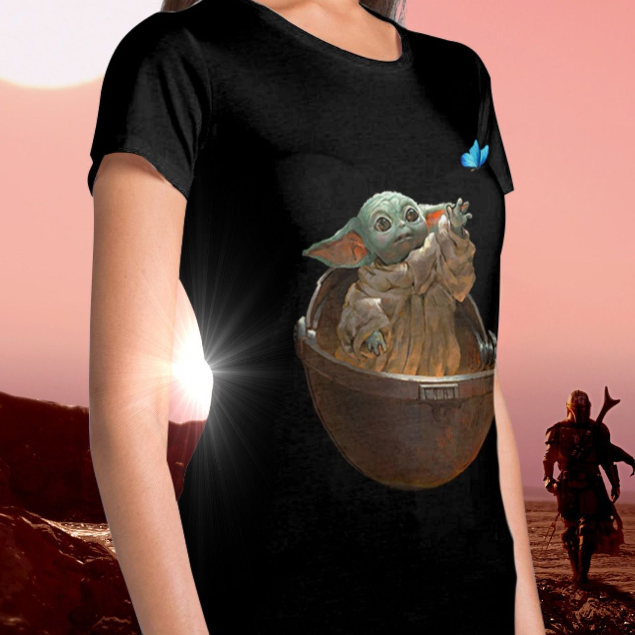 Camiseta Feminina Baby Yoda (The Child): The Mandalorian (Star Wars)