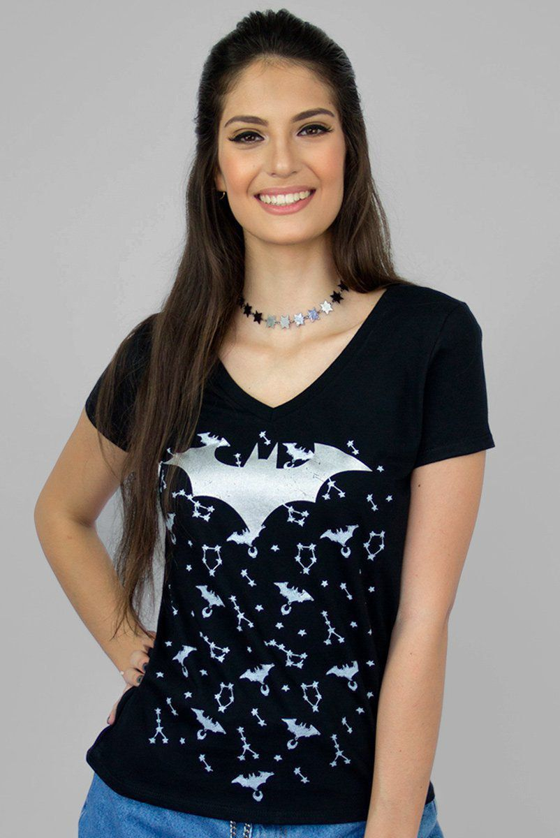 Camiseta Feminina Batman Astrology: DC Comics - BandUp!