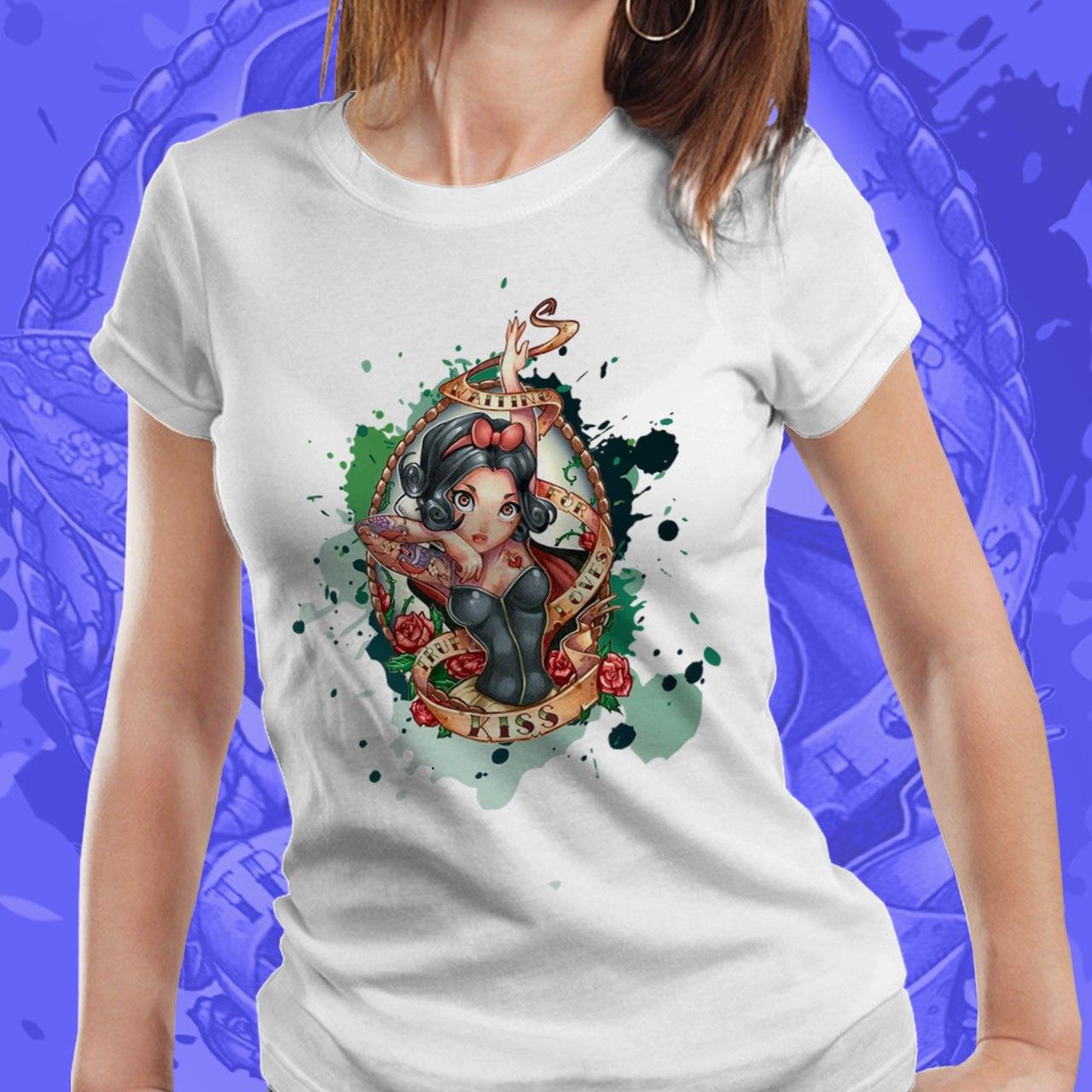 Camiseta Feminina Branca de Neve - Disney (Branco) - EV