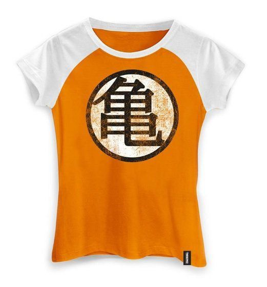 Camiseta Feminina Dragon Ball Simbolo Kame