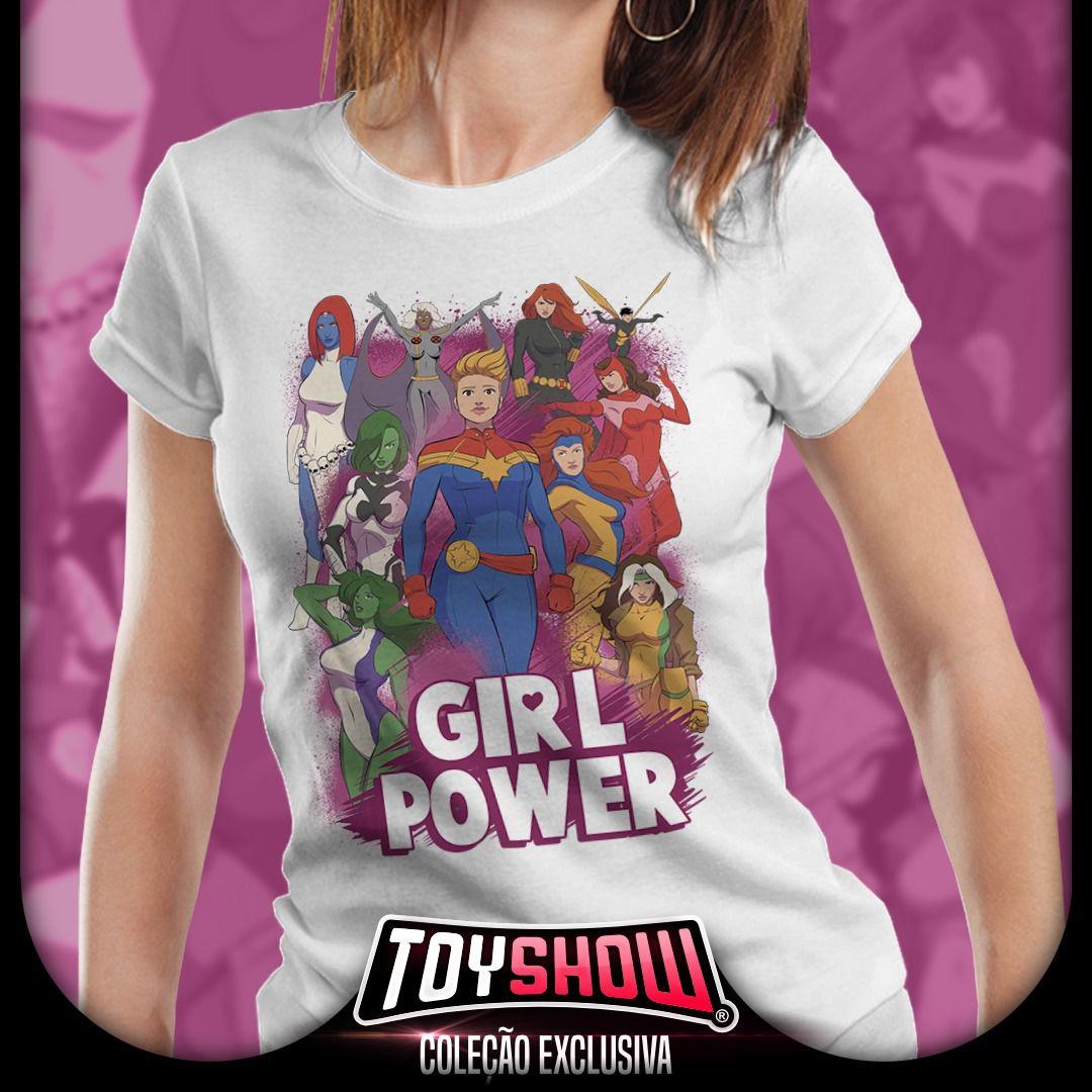 Camiseta Feminina Girl Power - Exclusiva Toyshow