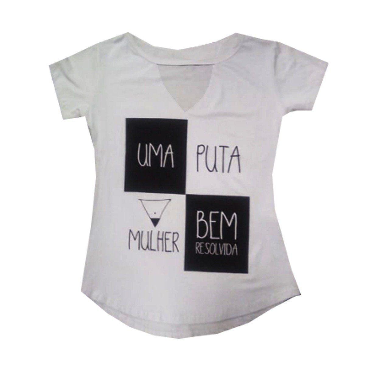 Camiseta Feminina Gola V Baby Look: