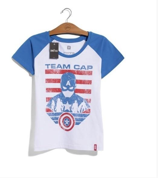 Camiseta Feminina Guerra Civil: Time Capitão América - Studio Geek