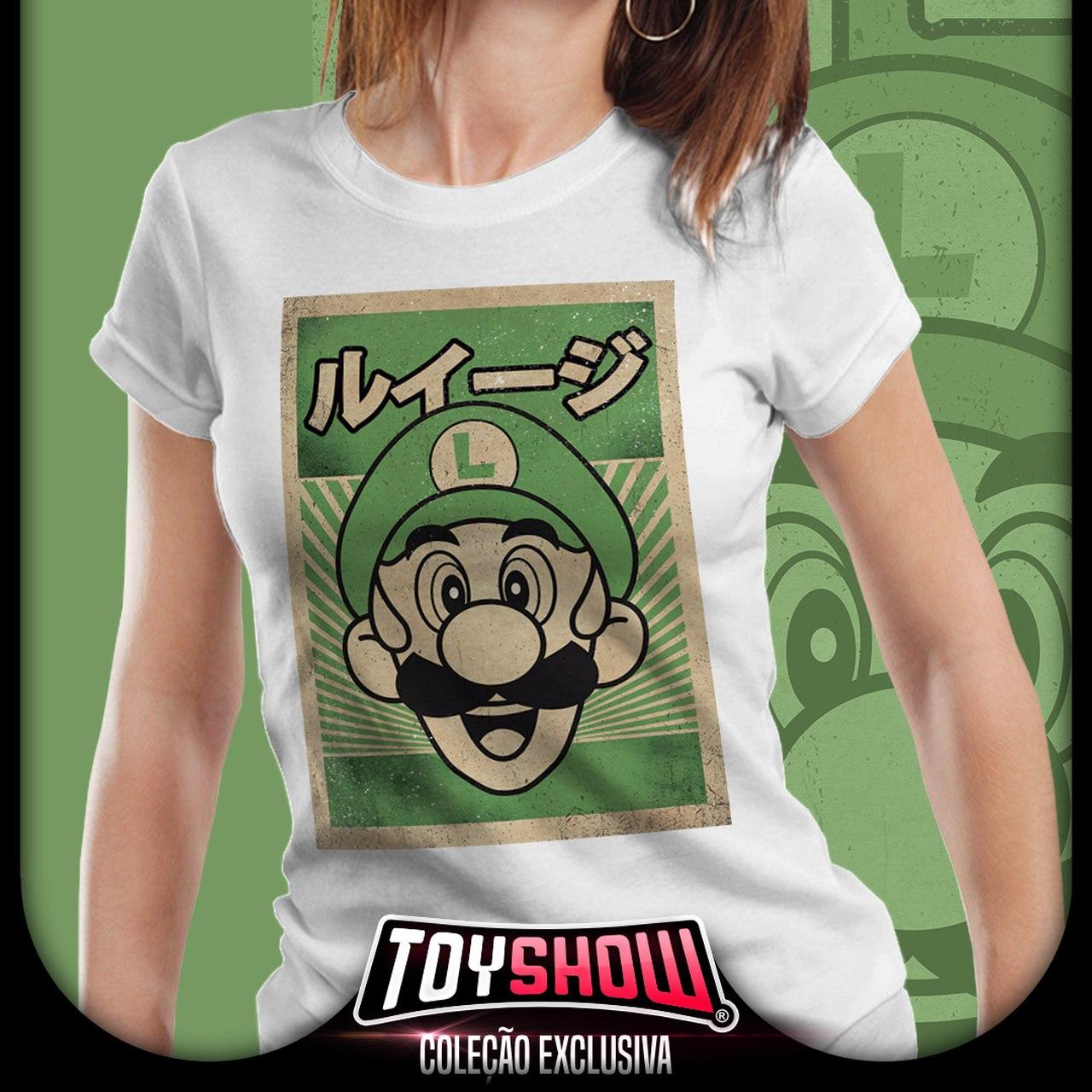 Camiseta Feminina Luigi: Super Mario Bros