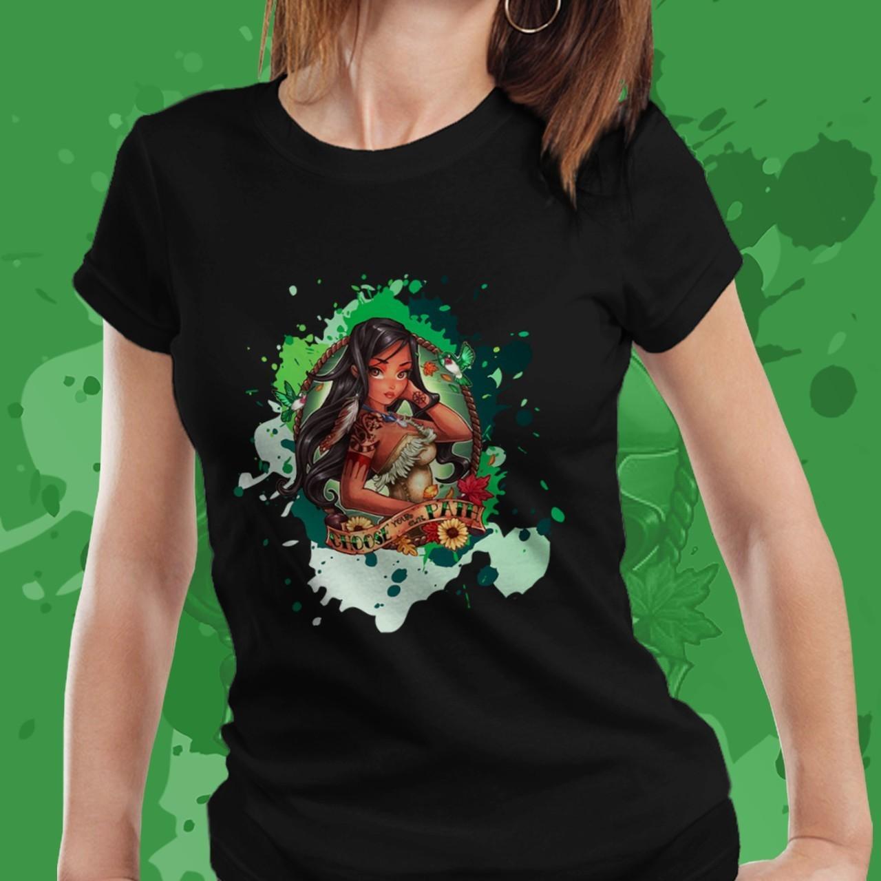 Camiseta Feminina Pocahontas: Pocahontas - Disney (Preto) - EV