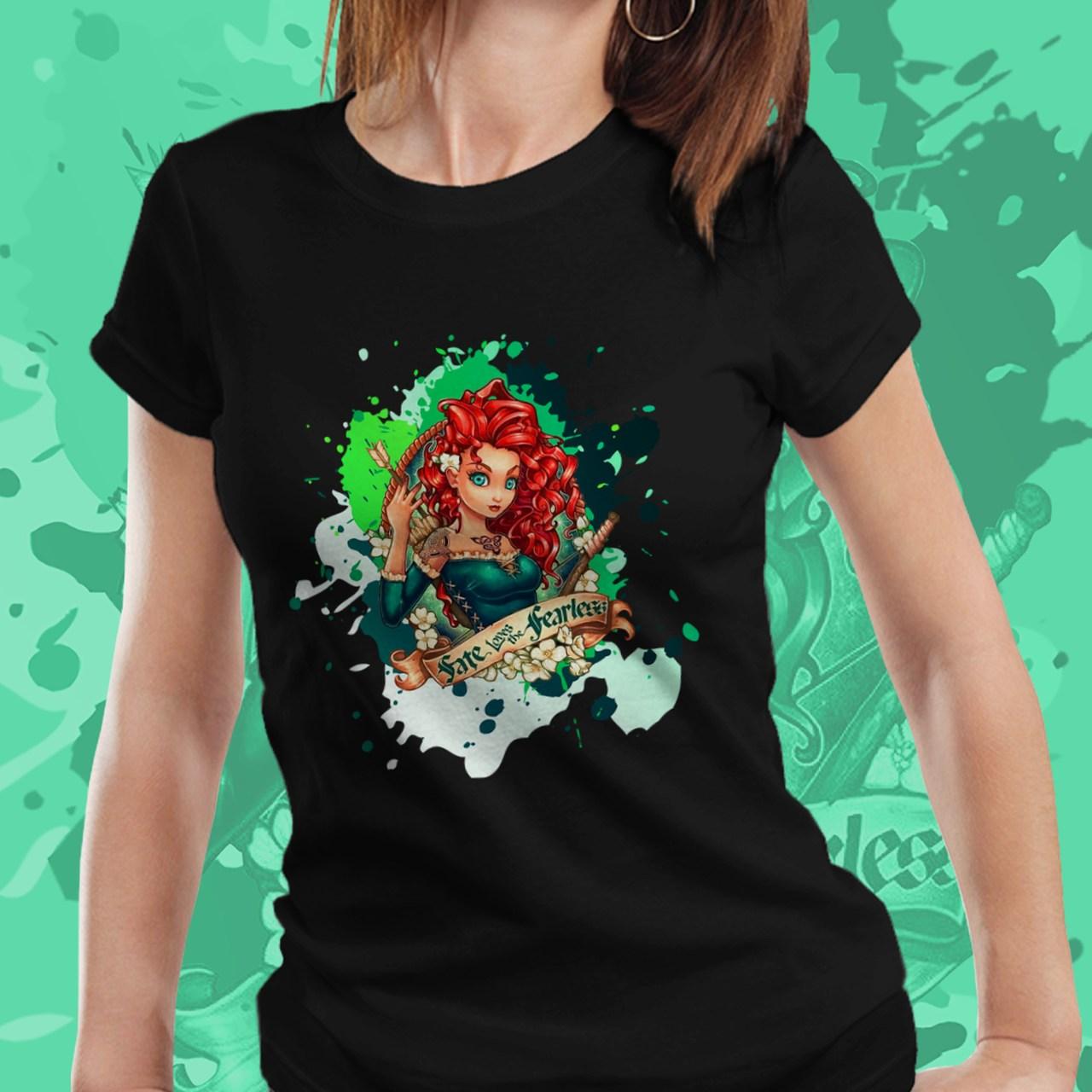 Camiseta Feminina Princesa Merida: Valente - Disney  (Preto) - EV
