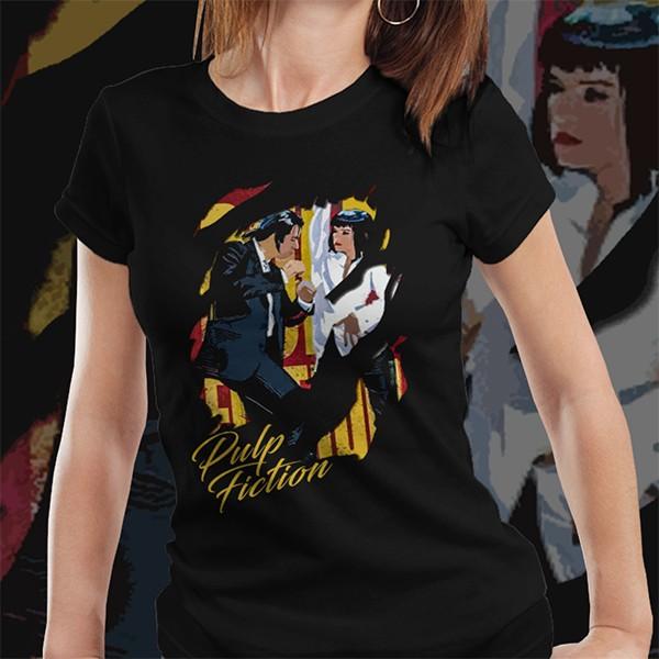 Camiseta Feminina Pulp Fiction: A última dança - EV