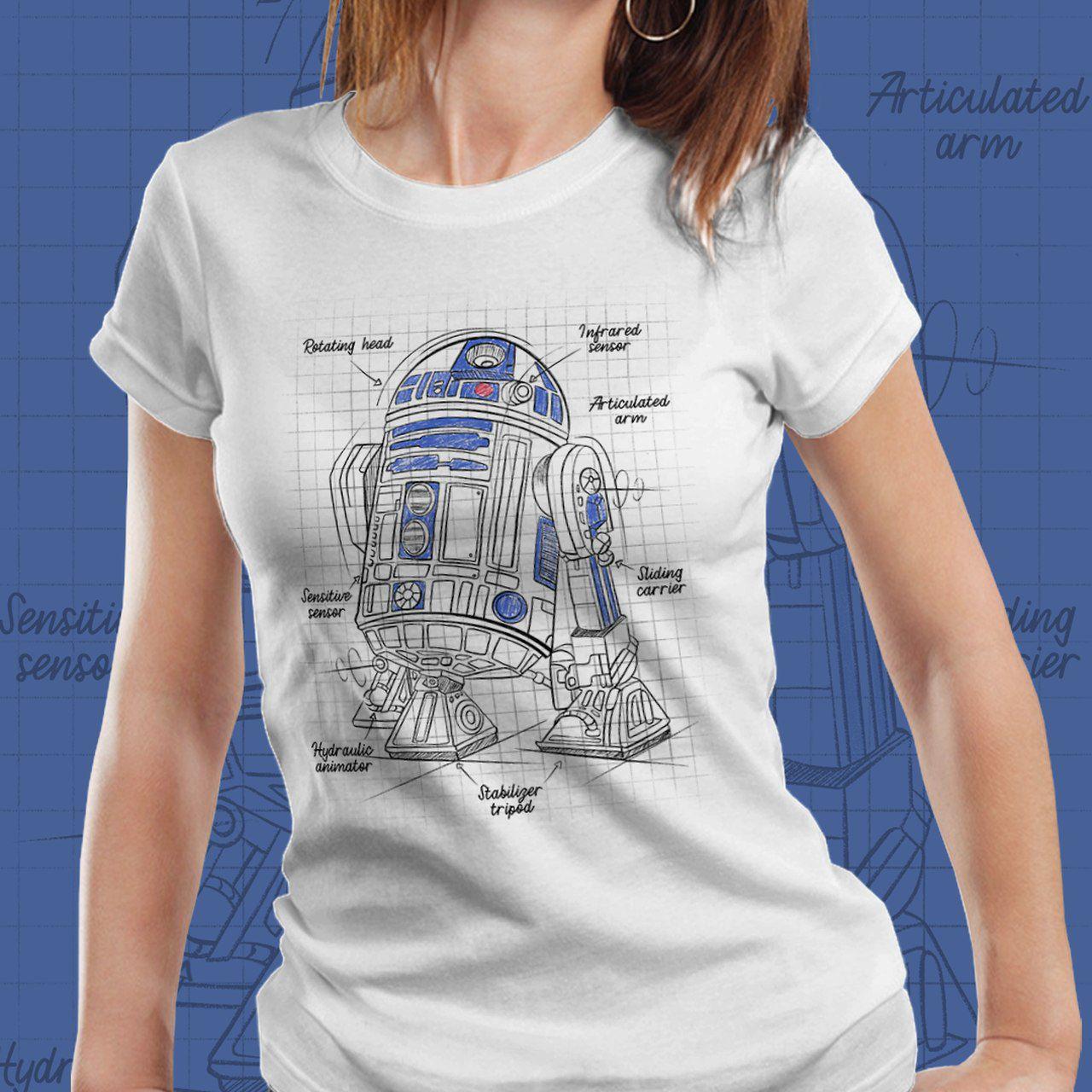 Camiseta Feminina R2-D2: Star Wars - EV