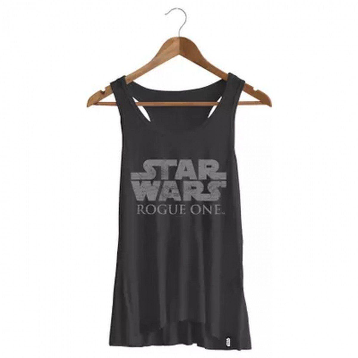 Camiseta Feminina Regata Logo Star Wars: Rogue One - Studio Geek