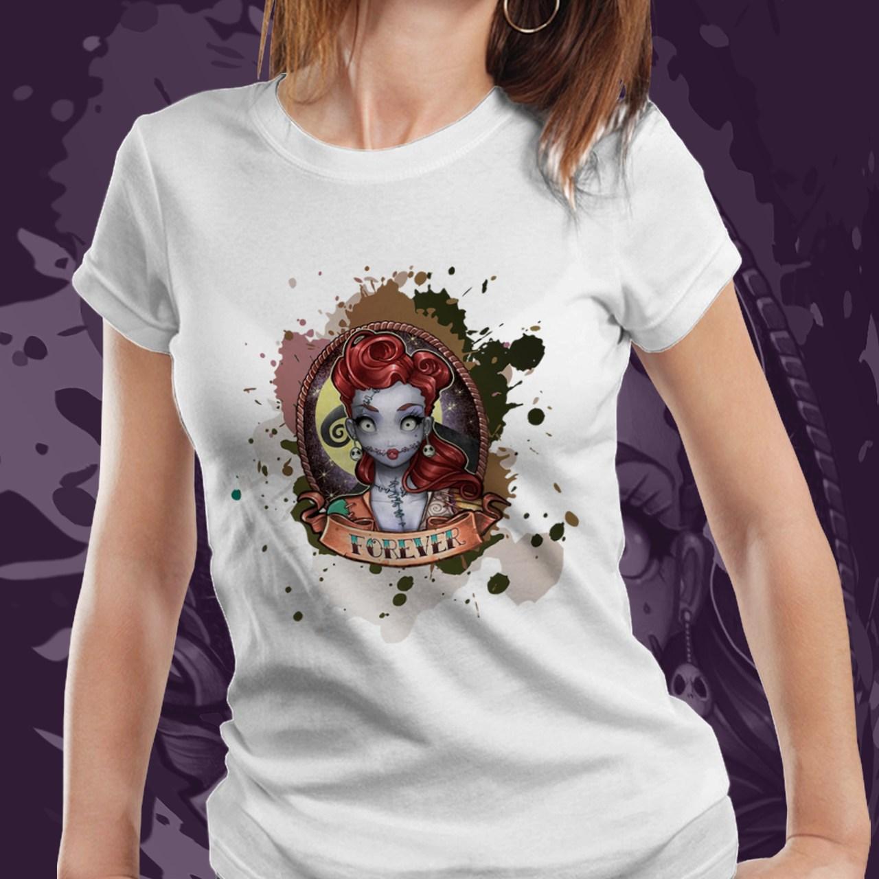 Camiseta Feminina Sally: O Estranho Mundo de Jack - (Branco) - EV