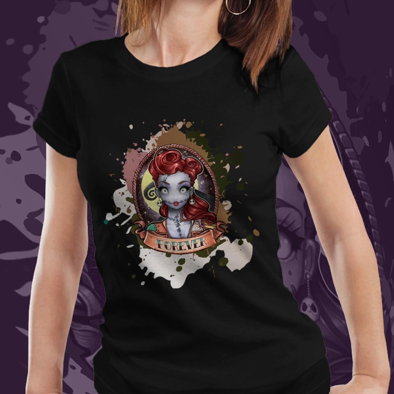 Camiseta Feminina Sally: O Estranho Mundo de Jack - (Preto) - EV