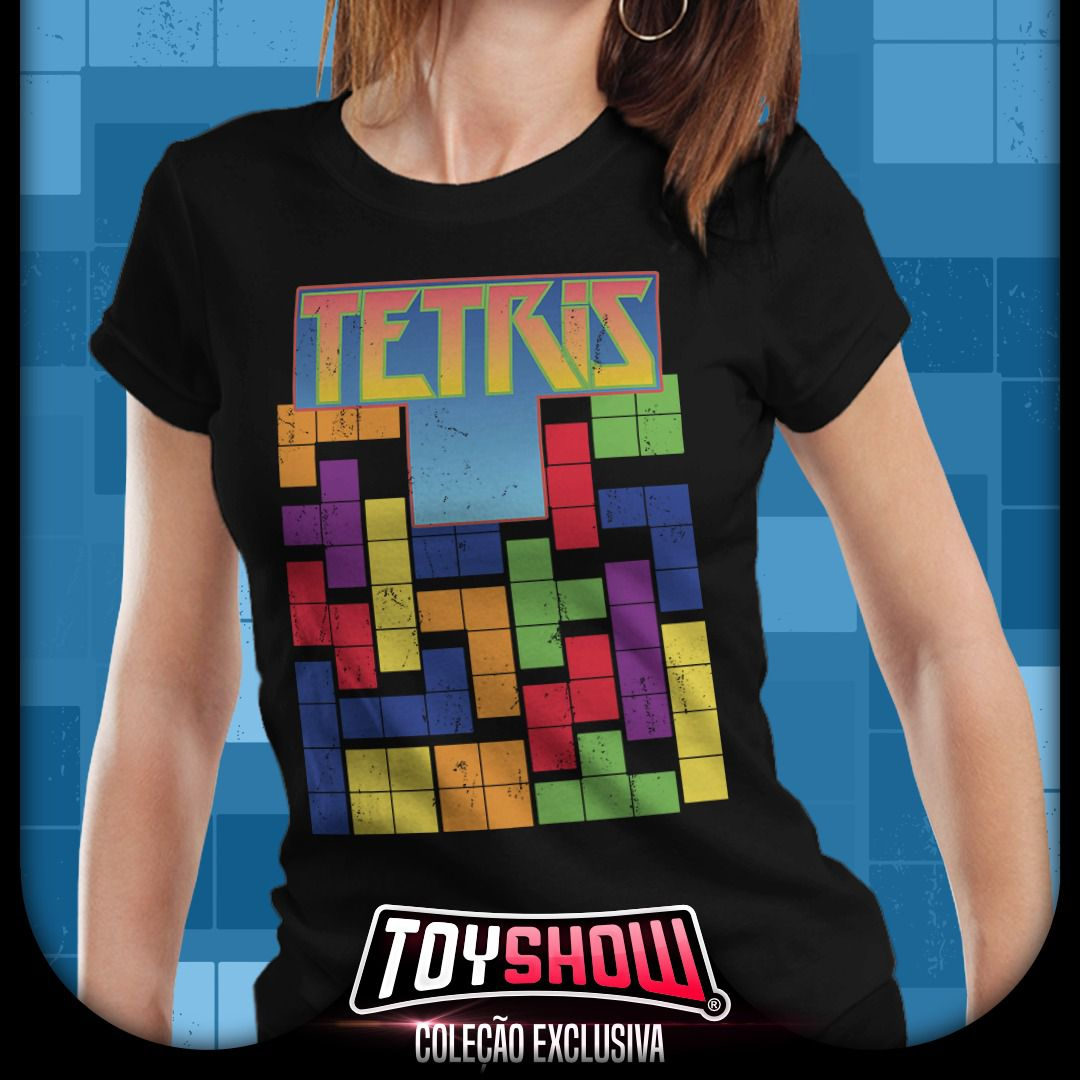 Camiseta Feminina Tetris - Exclusiva Toyshow