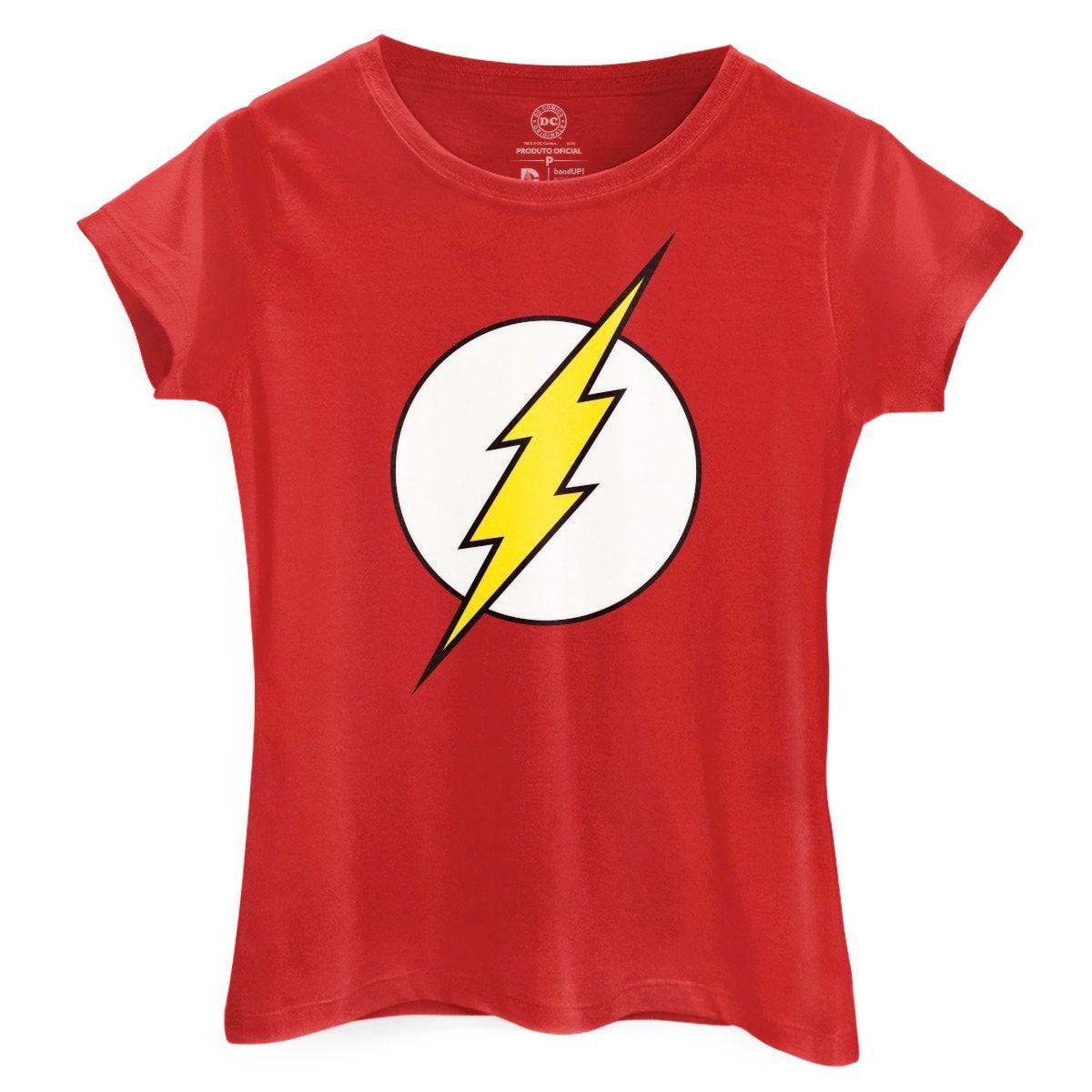 Camiseta Feminina The Flash Logo: DC Comics - BandUp!