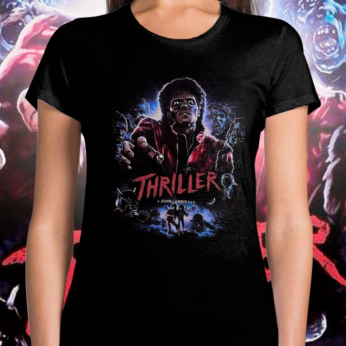 Camiseta Feminina: '' Thriller '' ( Michael Jackson )