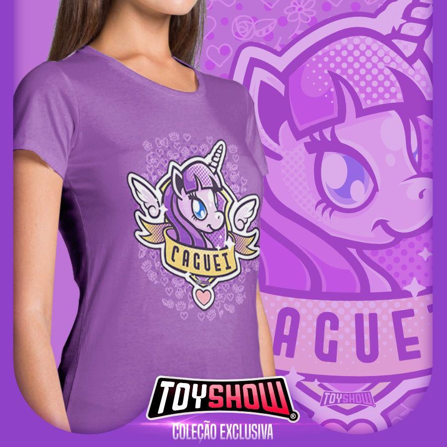 """Camiseta Feminina PowerFun (Unicórnio) """"Caguei"""" - Exclusiva Toyshow"""