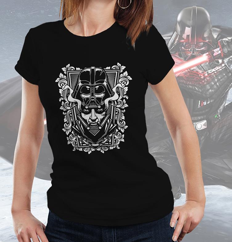 Camiseta Feminina Unissex Darth Vader Anakin Skywalker Capacete Helmet: Star Wars (Preta) - EV