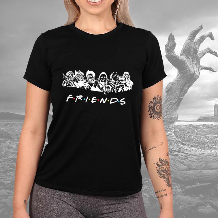 Camiseta Feminina Unissex Friends Halloween Horror (Preta) - EV