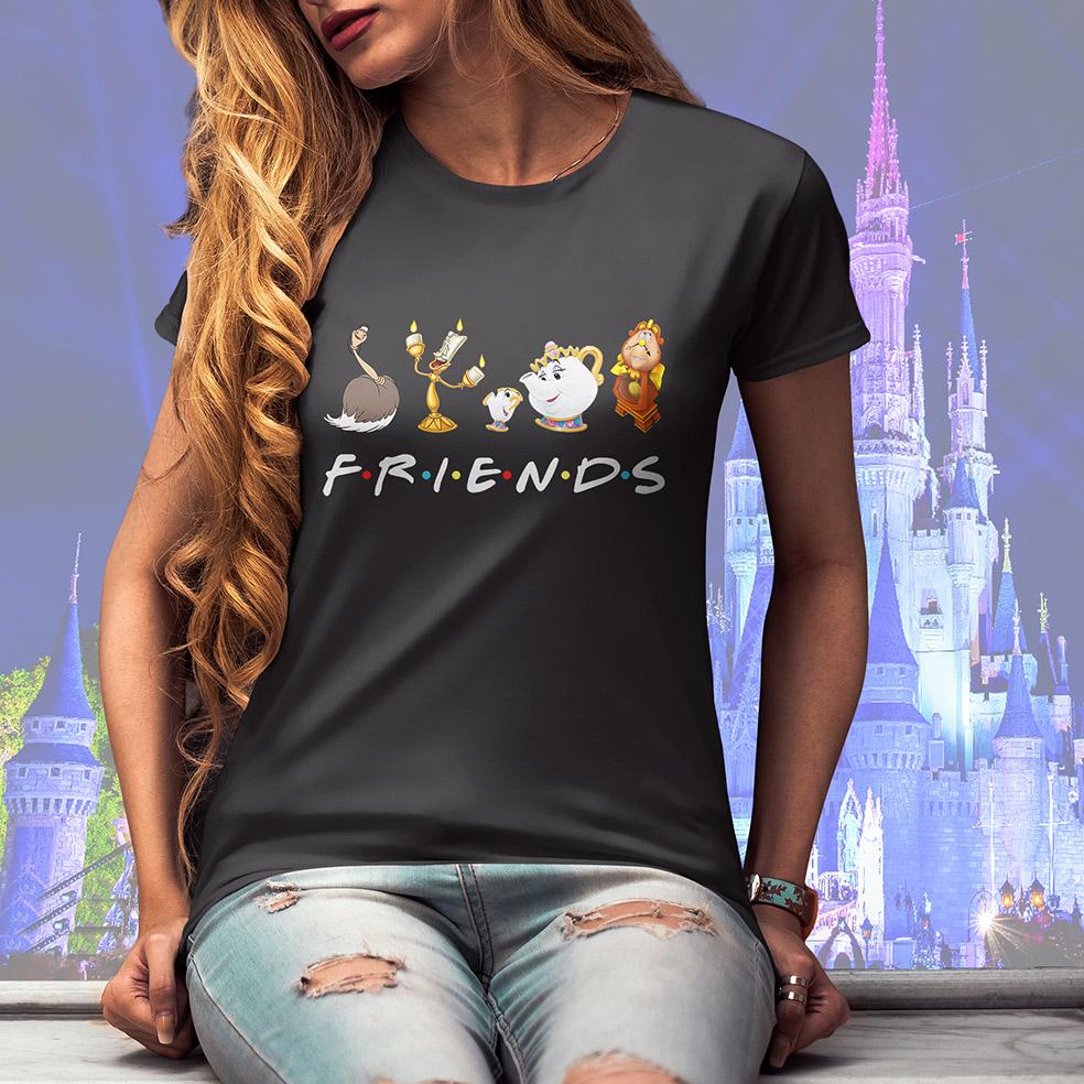Camiseta Feminina Unissex Friends Personagens Disney (Cinza Chumbo) - EV