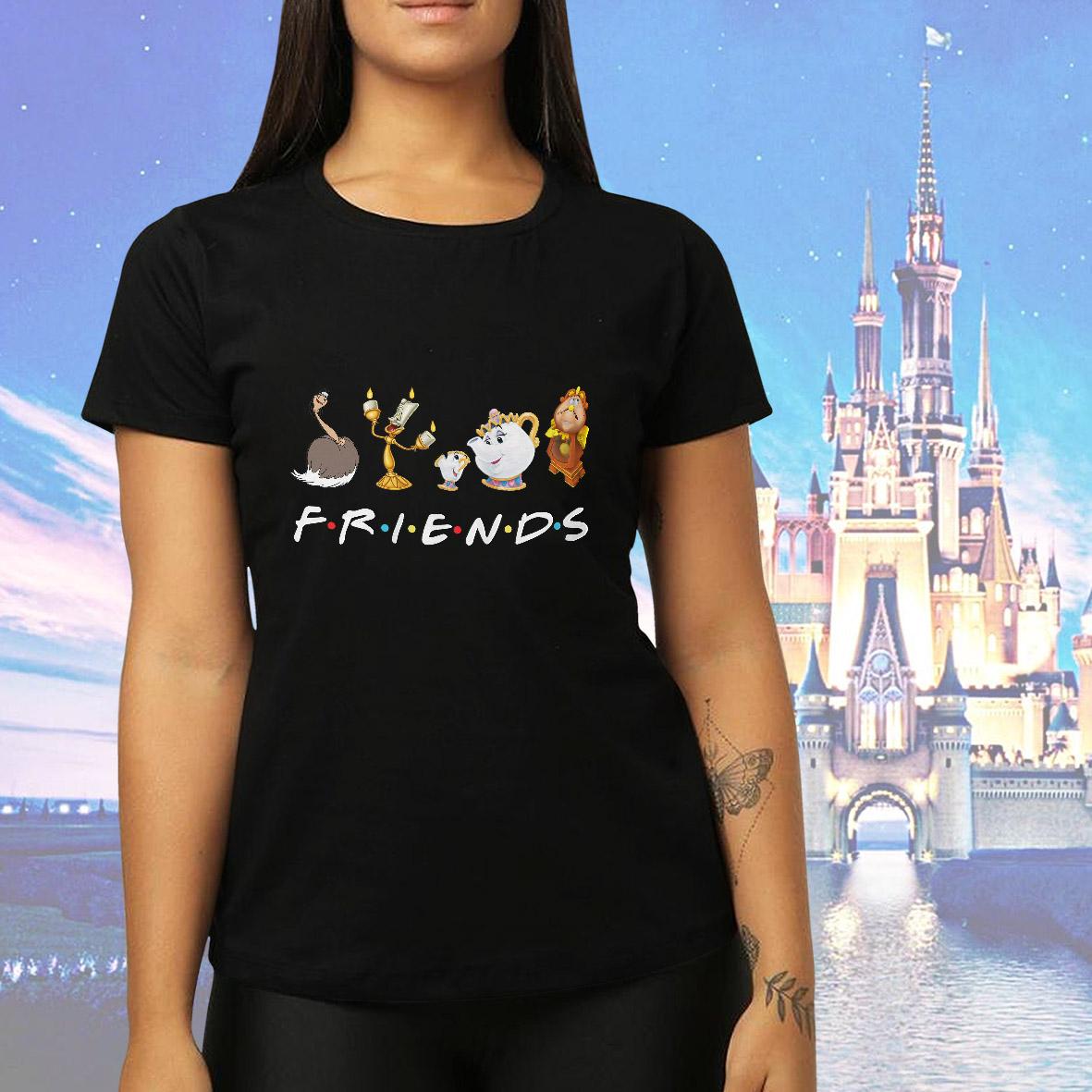 Camiseta Feminina Unissex Friends Personagens Disney (Preta) - EV