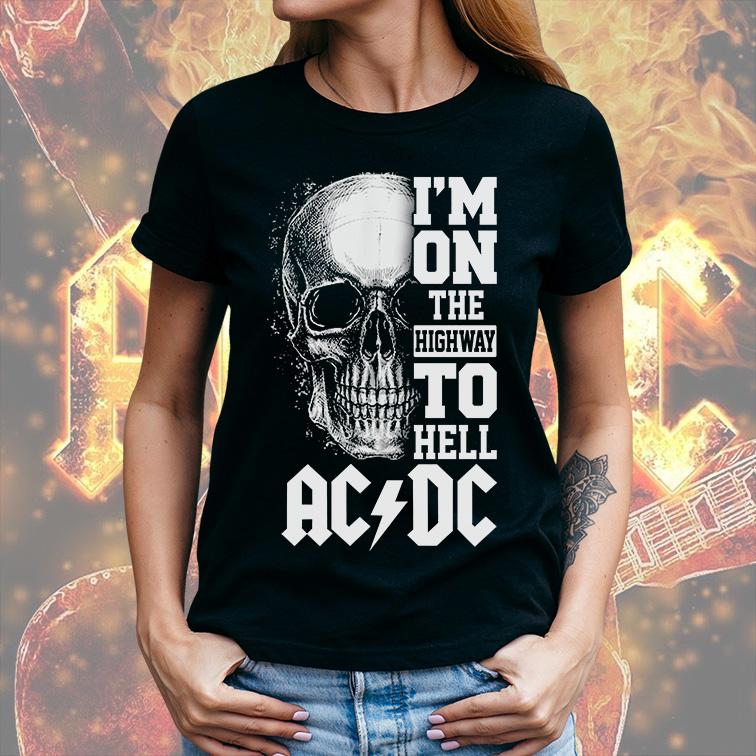 Camiseta Feminina Unissex I'm On The Highway To Hell: ACDC (Preta) - EV