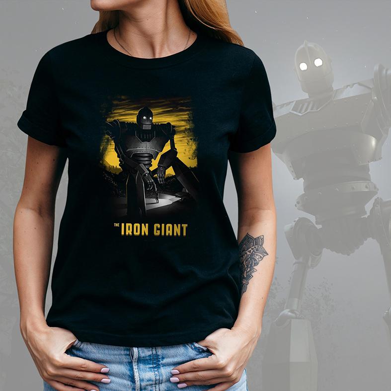 Camiseta Feminina Unissex Iron Giant Gigante De Ferro (Preta) - EV